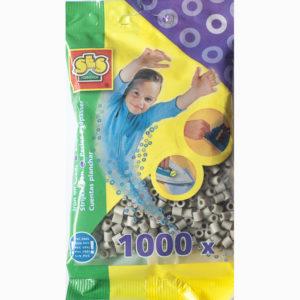 Strijkkralen 1000 stuks – Grijs