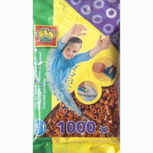 Strijkkralen 1000 stuks – Bruin