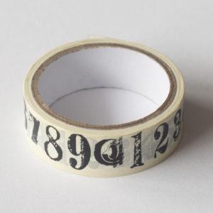 Washi tape – Cijfers