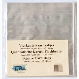 Cellofaanzakjes vierkant 14,5 x 16 cm