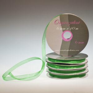 Organza lint – Groen 6mm