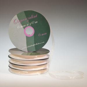 Organza lint – Ivoor 6mm