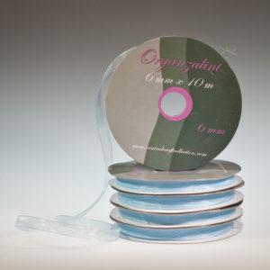 Organza lint – Blauw 6mm