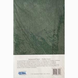 Spinnenwebpapier – Donkergroen