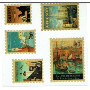 Vintage stickers – Set van 4