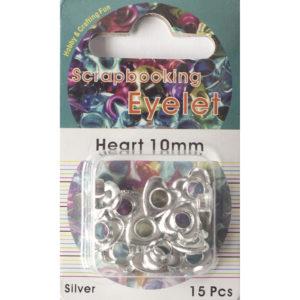 Eyelets 10mm – Zilver hart