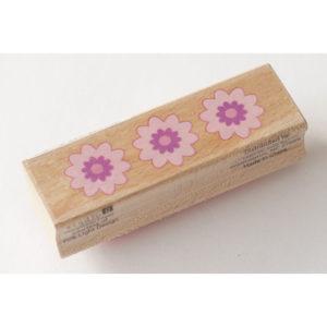 Houten stempel – Bloemen