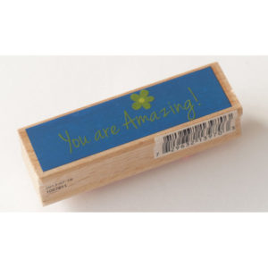 Houten stempel – You are Amazing!