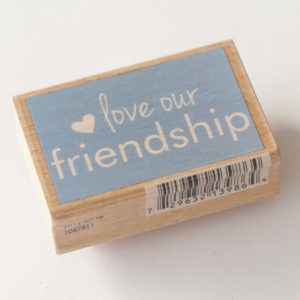 Houten stempel – Love our Friendship