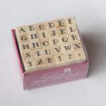 Houten stempels – Letters