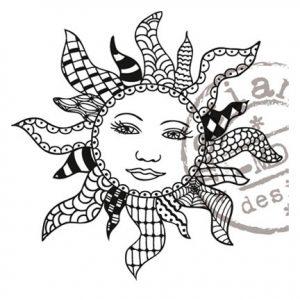 Stempel – Doodle Sun